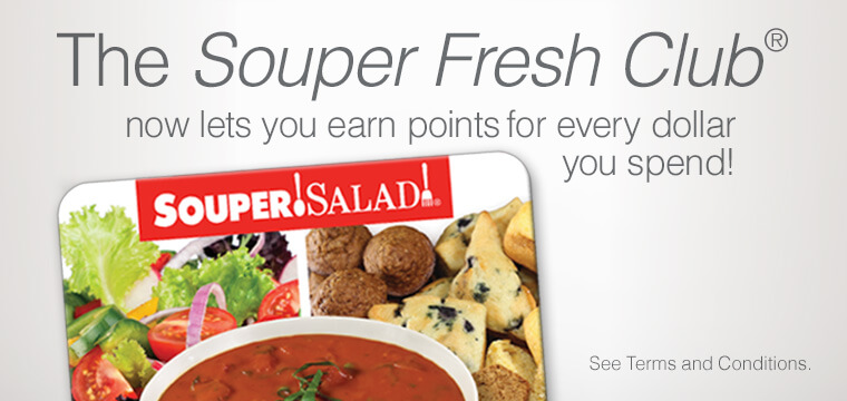 Image saying to Join the Souper Fresh Club to earn Rewards